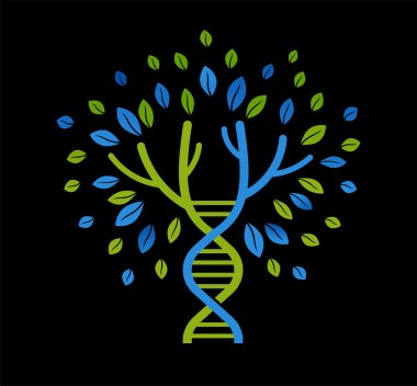 DNA tree with leaves