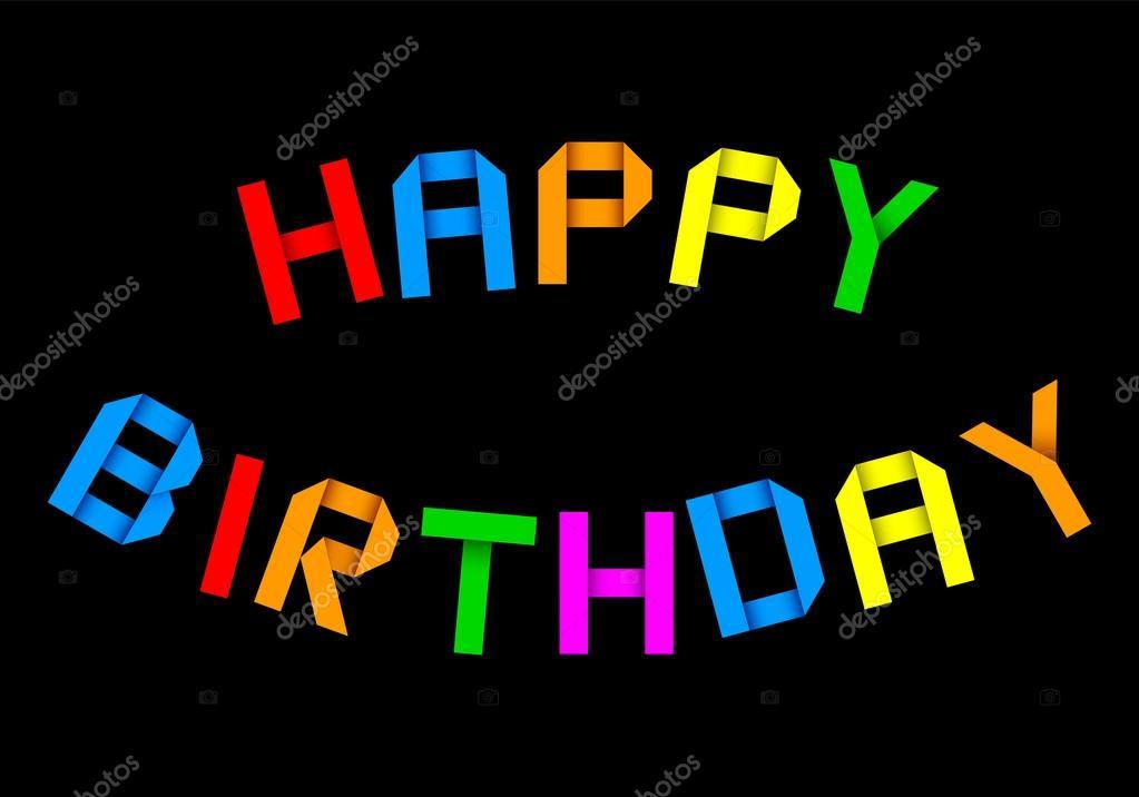 Alles Gute Zum Geburtstag Origami Begrüßung U2014 Vektor Von 3dvlaa