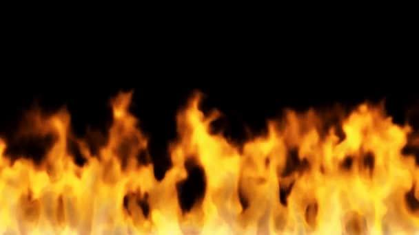 požár na černém pozadí - vysokoteplotní vypalování sekvence