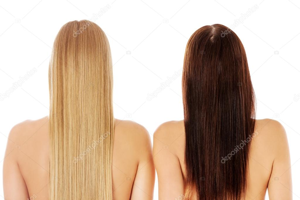 Lange Haare Frisur Friseursalon Frau Mit Gesundem Haar