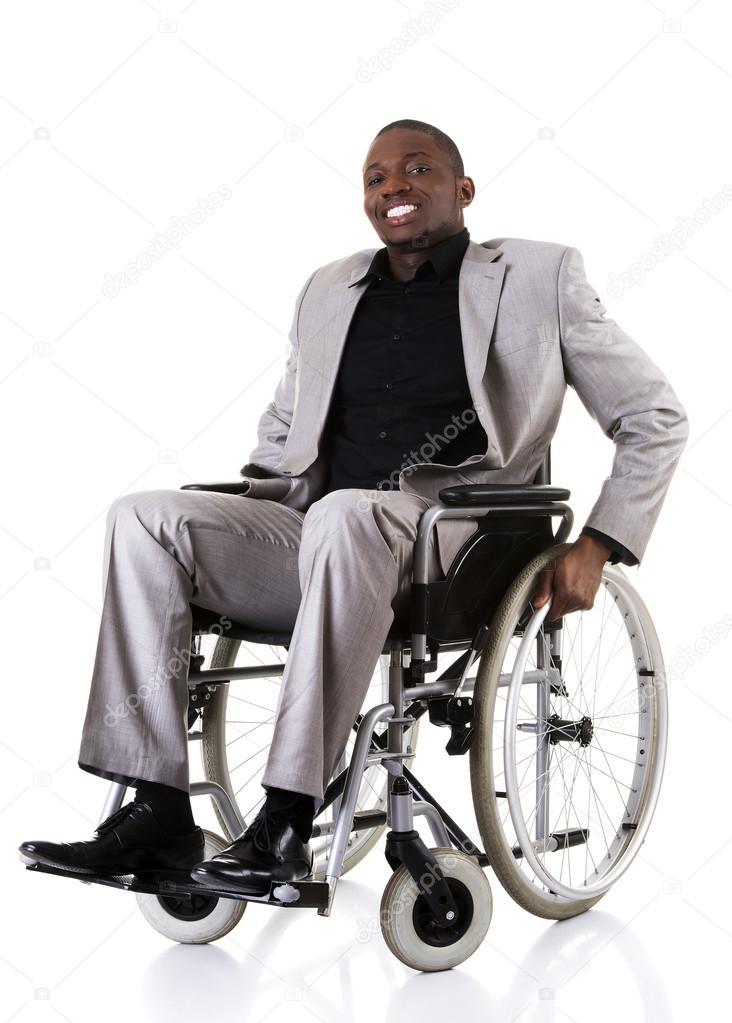 Ruedas — Discapacidad Silla Empresario Con De Sentado En Foto WED9I2YH