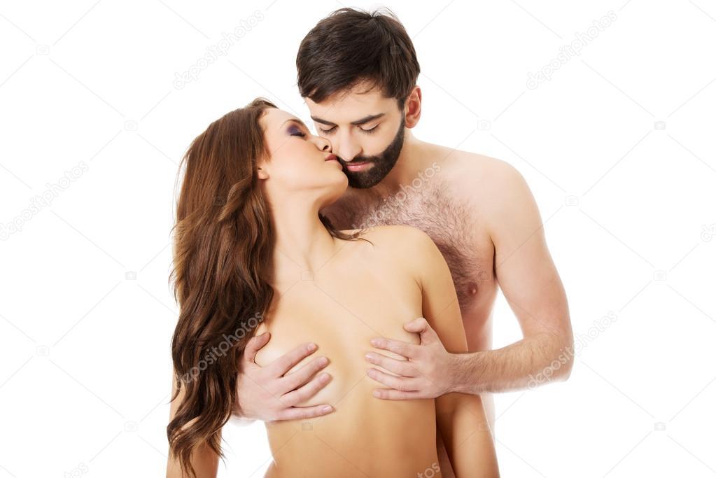 性感的异性恋夫妇接吻 — 图库照片©piotr_marcinski#64707429