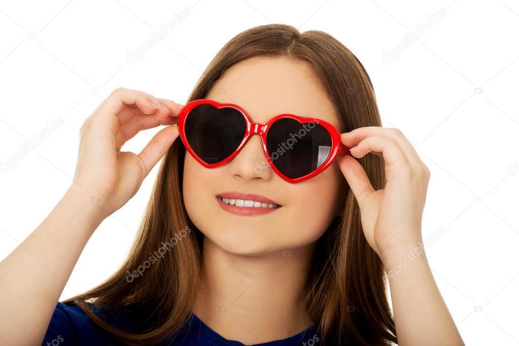 Fotos Mujer Llevaba Gafas © Que Piotr Stock marcinski — De Sol PXZuOik