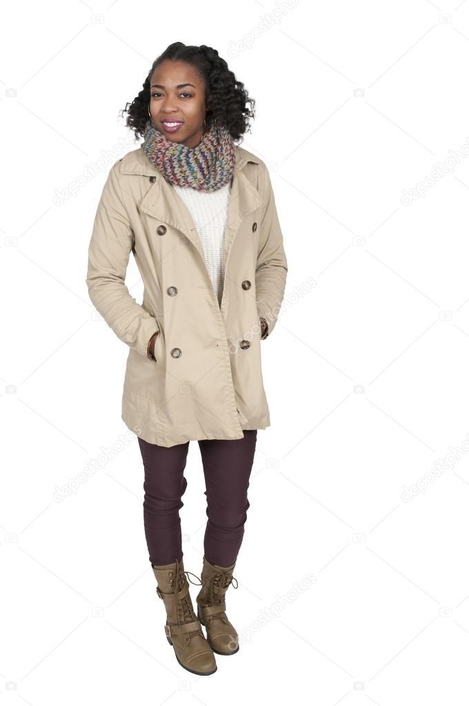 Winterjas Vrouw.Vrouw In Winterjas Stockfoto C Robeo123 98034426