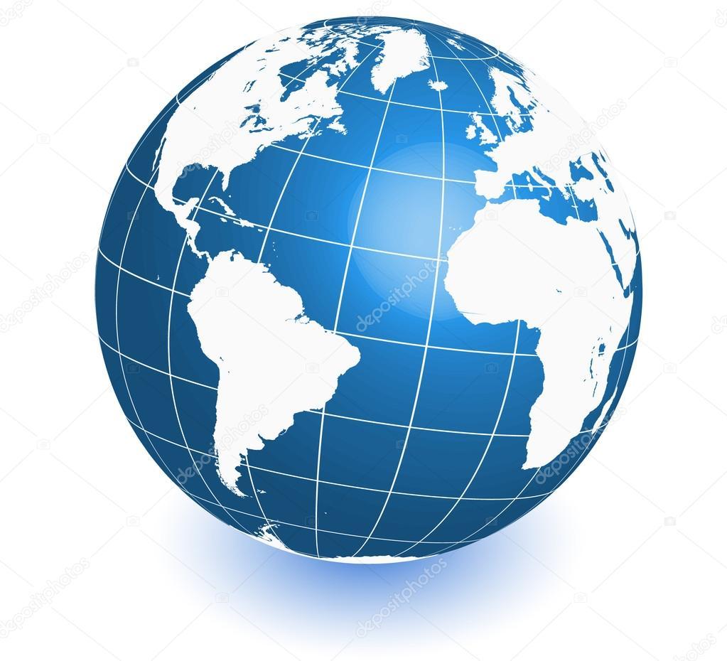 mapa mundi globo mapa do mundo terra em vetor. Ícone de globo — Vetores de Stock  mapa mundi globo
