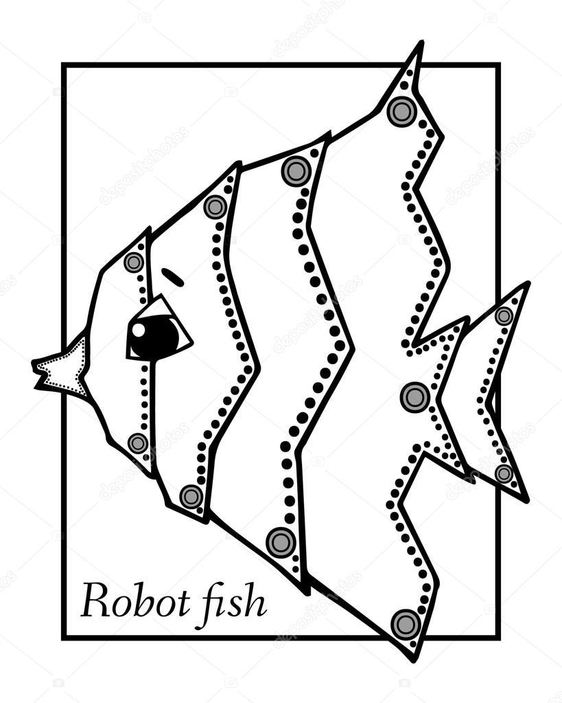 Kresba Robot Ryb Stock Vektor C Mary1507 99397664