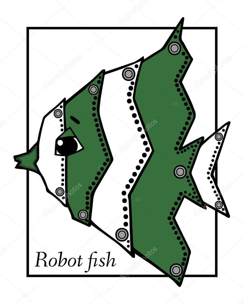 Kresba Robot Ryb Stock Vektor C Mary1507 99398702