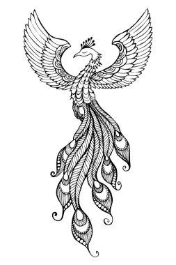 Emblem of Phoenix Bird
