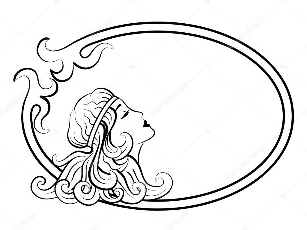 Antique frame drawing Gold Beautiful Antique Woman In Frame Drawing Lines Vector By Nattalex Depositphotos Beautiful Antique Woman In Frame Stock Vector Nattalex 92380540