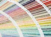 Fotografie Barevný vzorník kniha s rainbow vzorku barvy katalog