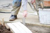 Mason pracovník tvorby chodník dlažba