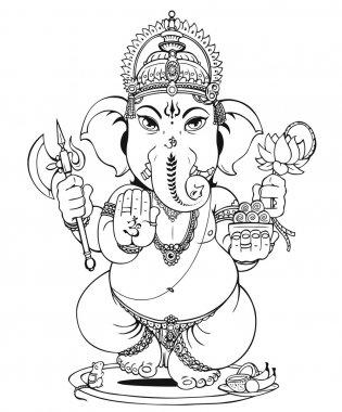 Lord Ganesha of Hindus God stock vector