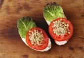 Fotografie Dva sendviče se zeleninou