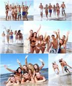 a legjobb barátok a strandon