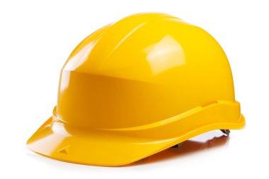 Yellow helmet on the table