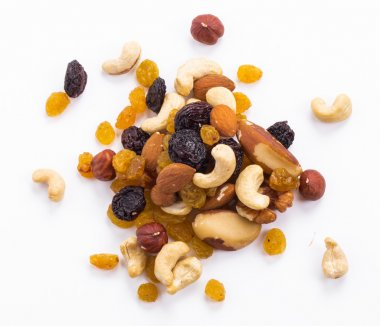 Raisins and nuts mix