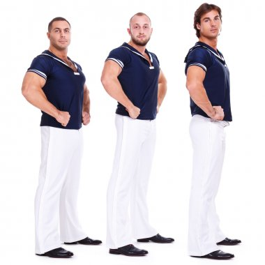 Handsome men in sailor dress