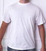 Man in a white t-shirt