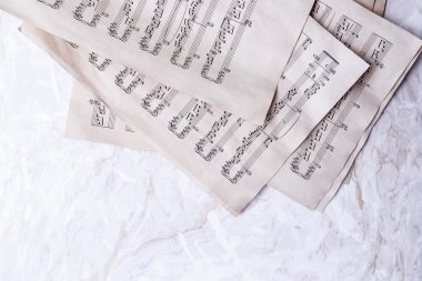Old sheets with notes