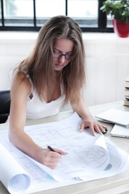 woman working in the office