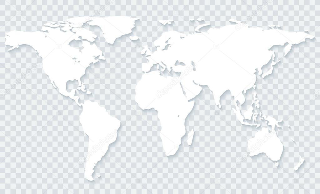 World map on transparent background stock photo almagami 112569790 white world map with shadow on transparent backgroundctor eps10 photo by almagami gumiabroncs Images