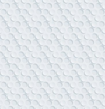 White perforated paper with cut out effect. Abstract 3d seamless background. Vector EPS10. stock vector