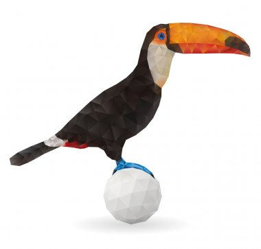 Cute Toucan Sitting on a Ball.