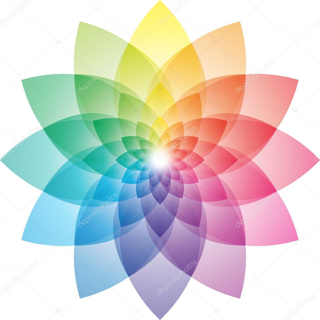 Beautiful Lotus Flower Color Wheel Vector EPS10 By Almagami