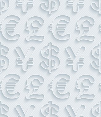 Light gray currency symbols wallpaper.