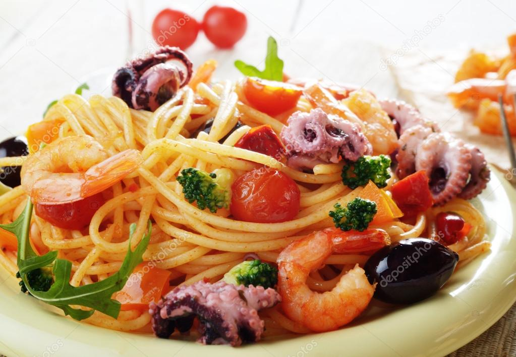 plat de p 226 tes marinara pour le spaghetti fruits de mer photo 52516649