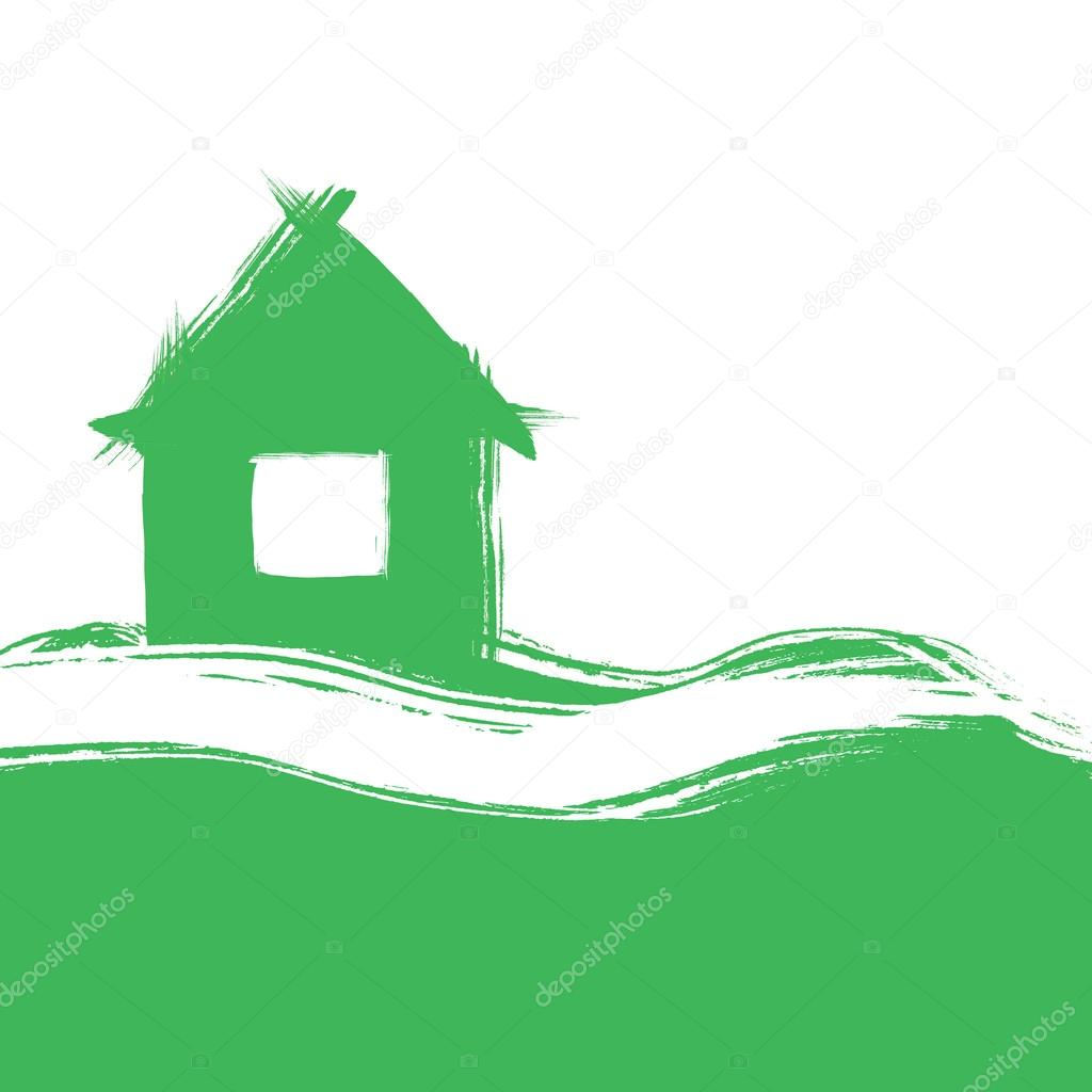 Casa stilizzato verniciato pennello foto stock lodec for Piani di casa di 4000 piedi quadrati