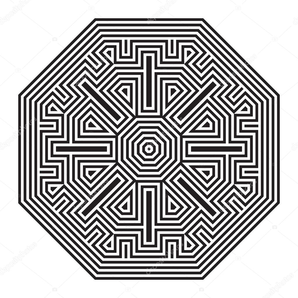 Celtic Knot Pattern Card Mandala Amulet Stock Vector C Colorvalley 52026639