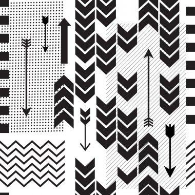 Mix geometric seamless pattern. Vector background clip art vector
