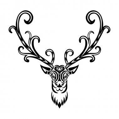 Creative art icon stylized deer