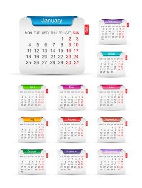 New year 2016 calendar design.