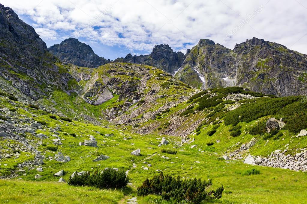 Inspiring Tatra Mountains Landscape View, sunny summer day