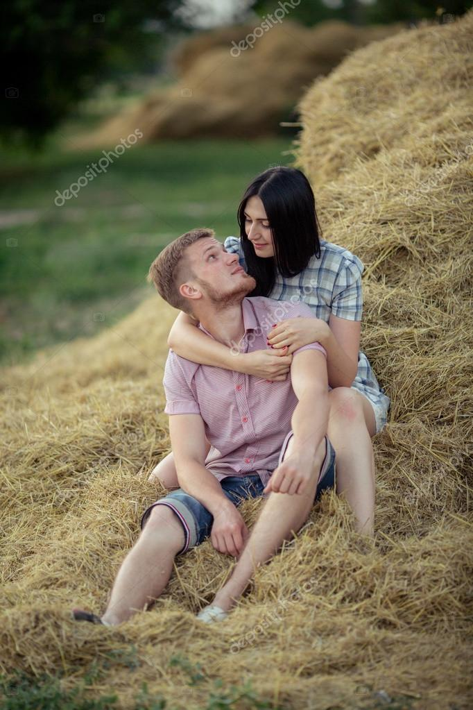 Young couple on nature