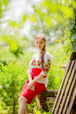 Ukrainian girl in national clothes