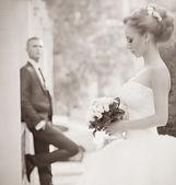 krásná nevěsta a ženich
