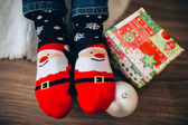 Fotografie Christmas Santa socks
