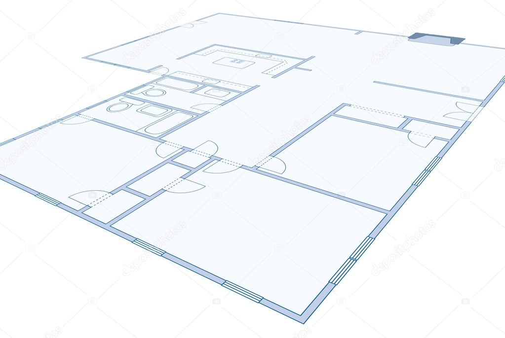 Dessin De Plan D Action D Une Simple Maison D Habitation