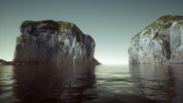 8K islands of Norway with rocks and cliffs