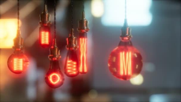 old retro vintage incandescent light bulb