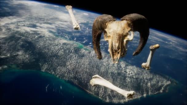 berani lebka s kostmi na oběžné dráze Země