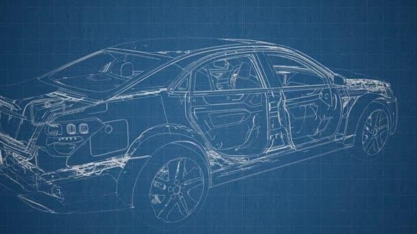 motor és más részei láthatók a autó