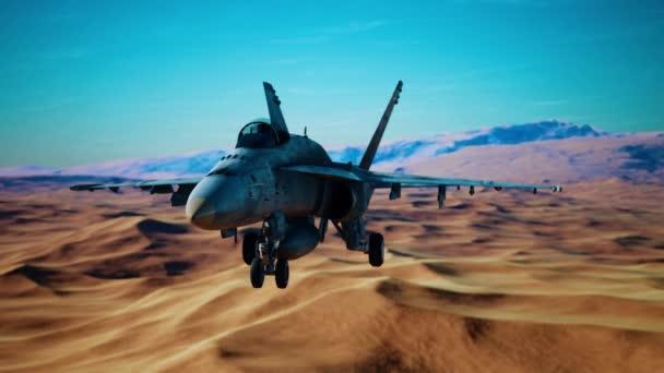 american military plane over the desert