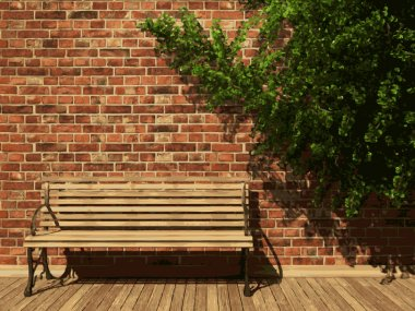 vector ivy and brick background