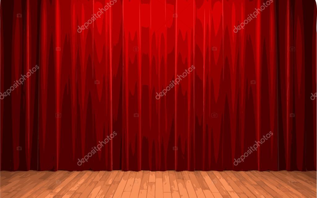 Vektor Rot Samt Vorhang Bühne Stockvektor Icetray 66255955
