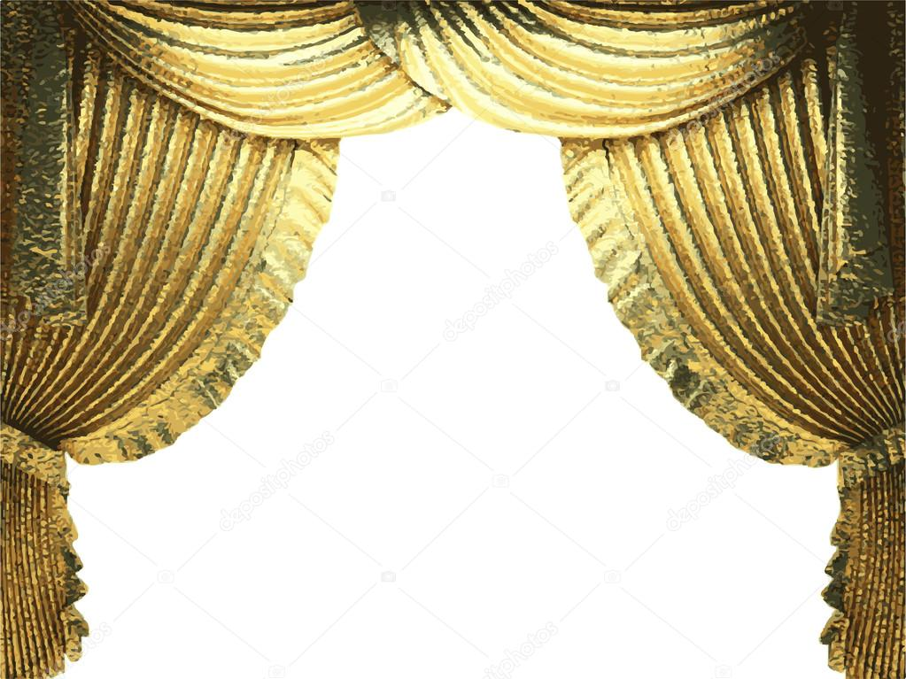 Vector Golden Curtain Background Stock 66964465