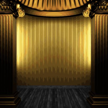 vector bronze columns and wallpaper